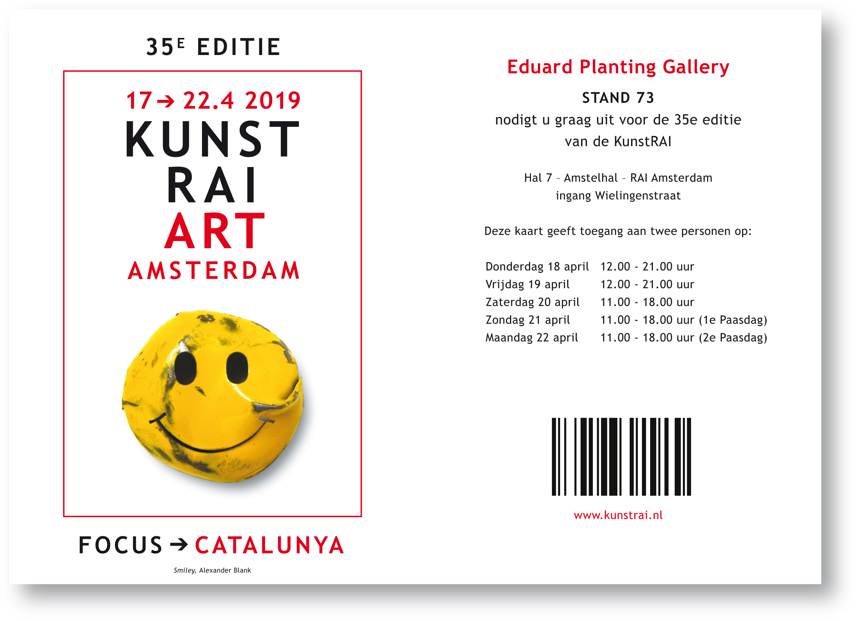 Uitnodiging Kunst RAI 2019
